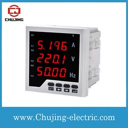 Wholesale Multi function meter Single phase AC ammeter and voltmeter Amp voltage frequency meter digital A V Hz meter