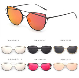 Fashion Women Brand Designer Luxury Cat Eye Sunglasses Fashion Metal Sunglasses for Women vintage sunglasses cat eye glasses D517 15pcs