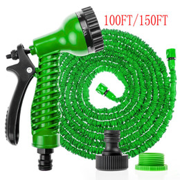 Wholesale 2016 brand new FT FT FT FT Expandable Flexible Garden Water Hose Pipe x Expanding Spray Nozzle Gun whosale