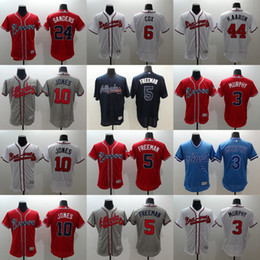 Wholesale Men s Elite Atlanta Braves Freddie Freeman Chipper Jones Dale Murphy Evan Gattis Bobby Cox Stitched Baseball jerseys