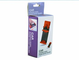Free shipping portable reusable plastic car mount phone holder cell phone holder for car 360 degree multiple car steering wheel phone holder