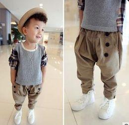 Wholesale - 2016 children pants joker children pure color of new fund of 2015 autumn haroun pants, children's clothes