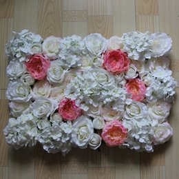 Free Shipping 10pcs lot white and rose red Artificial silk rose flower wall wedding background flower road lead decoration