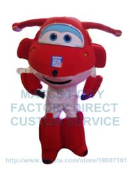 Wholesale popular cartoon red airplane mascot costume adult size hot sale anime cosply costumes aircraft plane theme carnival fancy dress