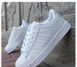 Wholesale 2016 spring and Autumn fashion Men Women Original superstar super shoes golden size Skateboarding shoes Flat shoes