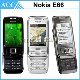 Wholesale Refurbished Original Nokia E66 Unlocked Slider Mobile Phone Symbian OS G GSM G WCDMA WIFI Bluetooth MP Camera Cell Phone