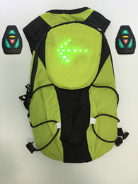 Wholesale M Radio frequency Outdoor cycling bag LED Bike Bicycle Sport Backpack backpack multi function led warning light backpack