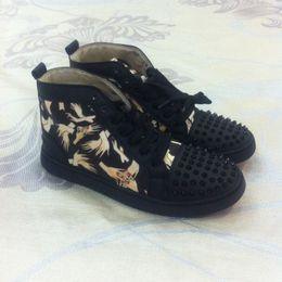 Wholesale Zapatos de la zapatilla de deporte de los altos de los dedos de la alta calidad para arriba de los hombres calza los zapatos ocasionales negros del partido de los zapatos de los deportes