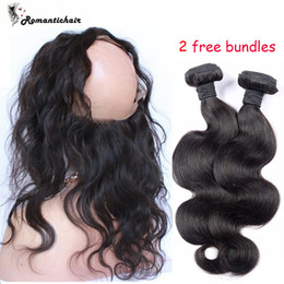 Wholesale 360 Degree Lace Frontal Free Bundles Weave Closure Human Hair Lace Frontal x4x2Human Hair Extensions For Black Women Brazilian Hair weaves