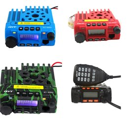 Wholesale QTY kt mobile radio transceiver kt8900 mini car bus army mobile vhf two way radio station UHF VHF MHz BLUE