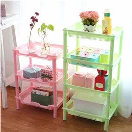 Wholesale Simple life Easy Assembled Multilayer Floor Kitchen Storage Bathroom Accessories Storage Shelf Kitchen accessories