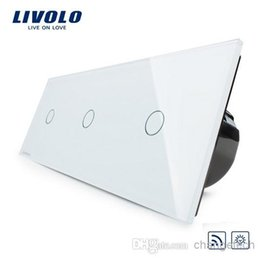 Free Shipping, EU Standard, Luxury Wall Triple Touch Switch, With Remote&Dimmer Function, VL-C703DR-11,Crystal Glass Panel