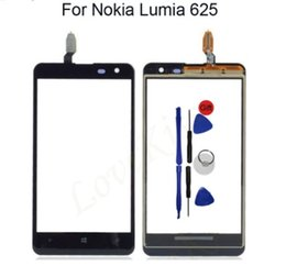 N625 Touch Screen Sensor For Nokia Lumia 625 N625 Front Touch Panel Digitizer LCD Display Outer Glass Lens Replacement With Tool
