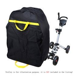 Black Color Golf Bags Heavy Golf Electric Trolley Bag Travel Car Waterproof Bag Cover Protector for Golf Club