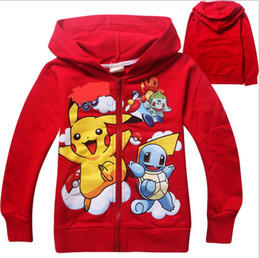 2 color boys girls Poke go Pikachu Hoodies Sweatshirts children Bulbasaur Jeni turtle Poke Ball Long sleeve Hoodie jacket kids clothing