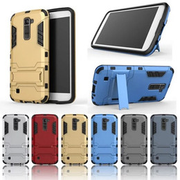 For LG K10 Case Rugged Combo Hybrid Armor Bracket Impact Holster Protective Cover Case For LG K10 M2