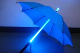 Wholesale 10pcs Cool Blade Runner Light Saber LED Flash Light Umbrella rose umbrella bottle umbrella Flashlight Night Walkers