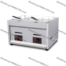 Wholesale L Commercial Stainless Steel LPG Gas Deep Fryer for Churros French Fries Chicken Twister Spiral Tornado Potato