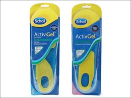 Wholesale Scholl Active Gel Insoles Print Logo Foot Care For Men For Shoes Soft Silicone Heel Knees Ankles VS Scholl Amope