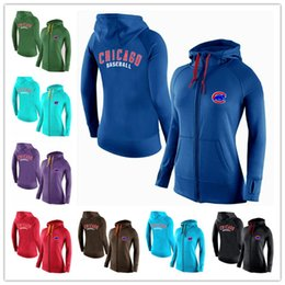 Wholesale New Women s Hoodies Chicago Cubs Baseball Jackets Sportswear Jogging Fleece sweatshirt Mixed order