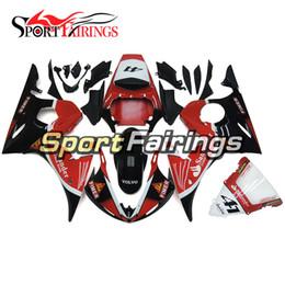 Full Fairing Kit For Yamaha YZF 600 R6 YZF-R6 03 04 2003 2004 Sportbike ABS Motorcycle Fairing Kit Bodywork Carenes Santander Red Black