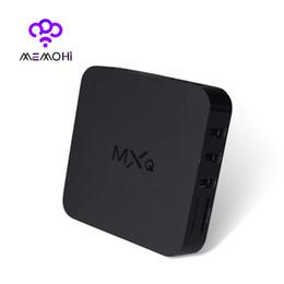 Wholesale 10pcs MEMOBOX MXQ Android TV Box Quad Core Bit Amlogic S805 MXQ Media Player With XBMC KODI15 skylive Fully Load Update Smart TV Box