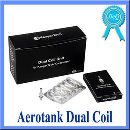 Aerotank Dual Coil Aero Tank Coil Core Aero-tank Replaceable Dual Coil Head for Aerotank Atomizer E Cigarette