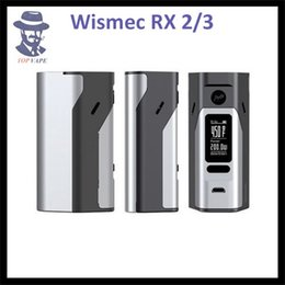 Wholesale Original Wismec RX23 Temp Control Box Mod With Replaceable Battery Door For Two W or Three Batteries W VS RX200S RX200W