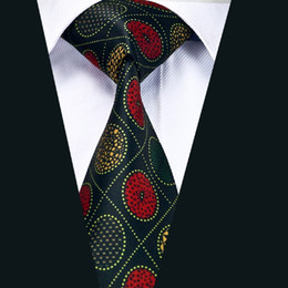 Men's Classic Fashion Silk Tie Red Yellow Wedding Business Printing Tie New Arrival Stylish Silk Necktie D-1213