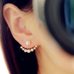 Wholesale Korean Style Girls Exquisite Simulated Pearl Stud Earrings For Women Earing Fashion Jewelry