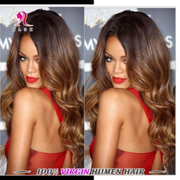 Three Tone Malaysian Braiding Hair Bundles 7A 4 Bundles Ombre Remy Body Weave Hair Bundles Brown Malaysian Hair Wefts Double Weft 7A