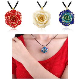 Wholesale Fashion Jewelery Forever Preserved Rose Flower Pendant With quot Chain