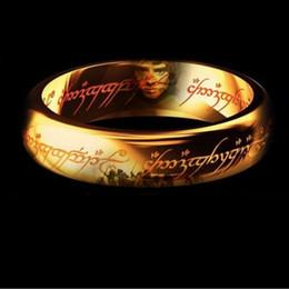 Brand New Fashion Colol jewelry Classic Men Women LOTR 18K Gold GP Wedding Band Rings for Women Men Pendant Width 6mm Size 6-12