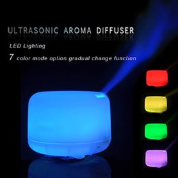 Wholesale Cheapest Ultrasonic Humidifier - Factory Price!!! Cheap Hot Colorful LED 2.4Mhz Ultrasonic Aromatherapy 500ML Aroma Diffuser Atomizer Air Humidifier Essential Oil Diffuser