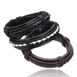 Wholesale leather bracelet men Jewelry wristband women hombre pulseira masculina feminina mujer erkek bileklik bohemian charm hombre