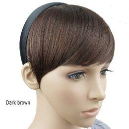 Sara Hoop Oblique Bang Side Bangs Straight 15CM*15CM Clip in Bangs Fringe Fringe Hair Extensions Synthetic Hair Franja Frange Hairpiece
