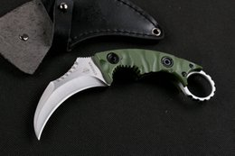 Promotion Top Quality New Claw Karambit knife G10 Handle Fixed blade knife Outdoor gear hunting knife camping knives Leather Sheath
