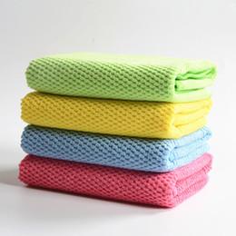 Venta al por mayor cojín del paño en venta-El paño nano al por mayor del cepillo del paño de la limpieza del piso de la cocina del coche de la toalla del microfiber libera el envío