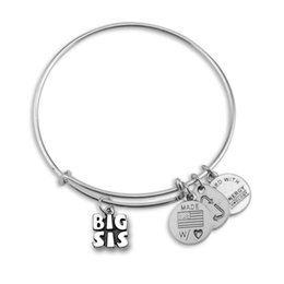 Wholesale Alex and Ani Big Middle Little Sisters Adjustable statement bracelets Silver Charms Wiring Expandable Pendant Bangles Band Cuffs
