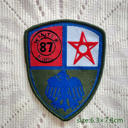 Military Winter Rarl 87 Star collect Sew On Patch Shirt Trousers Vest Coat Skirt Bag Kids Gift Baby Decoration