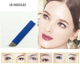 Wholesale 50PCS Dispable Permanent Makeup Manual Eyebrow Tattoo Bevel Blade Pin Needles