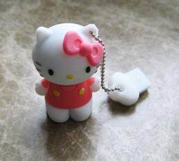 10 Piece 4GB 8GB PVC Mini Kitty cat USB Flash Drives Brand New Kitty Cartoon U Disk USB2.0
