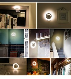 Wholesale Smart Sensor Body LED Nightlight Motion Automatic Wall Light Indoor LED Cabinet Lamp Battery Powered Soft light For Child Baby Home Decor