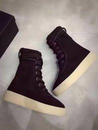 Wholesale Kanye West Season Crepe Boot YEZ Black New Boot High Cut Made in Spain with Original box fashion sneakers Men women Shoes size