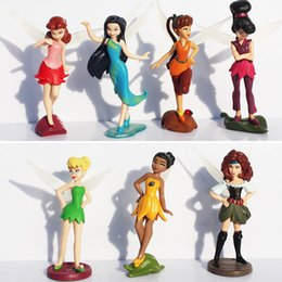Wholesale 5sets Tinker Bell and the Pirate Fairy Silvermist Iridessa Rosetta Fawn Tinkerbell PVC Doll Action Figure Toy Gift For Girl