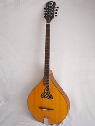 Wholesale Vintage string Irish Bouzouki Traditional Acoustic Octave Mandolin with free bag