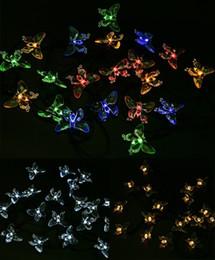 2017 luces de hadas blancas con pilas Al aire libre Vacaciones de Navidad Festival Energía Solar Blanco Azul Púrpura Decoraciones Iluminación Batería Hada Luces Led Led Solar Cadena Luz luces de hadas blancas con pilas en venta