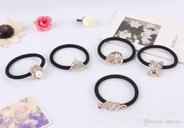 Wholesale 2015 European Korean hot products diamond crystal rubber band to tie her hair free delivery welcome to