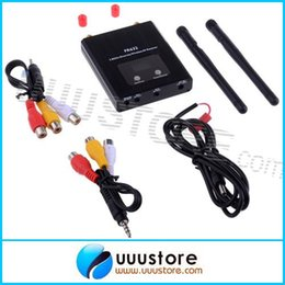 Wholesale New FR632 Dual way Digital LCD Scanning Diversity GHz Ch Auto Scan LCD A V Receiver