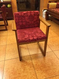 Wholesale 2016 papelaria solid wood mahogany chair hotel club cafe office cloth art chinese leisure leather contracted fabric chairs Antique